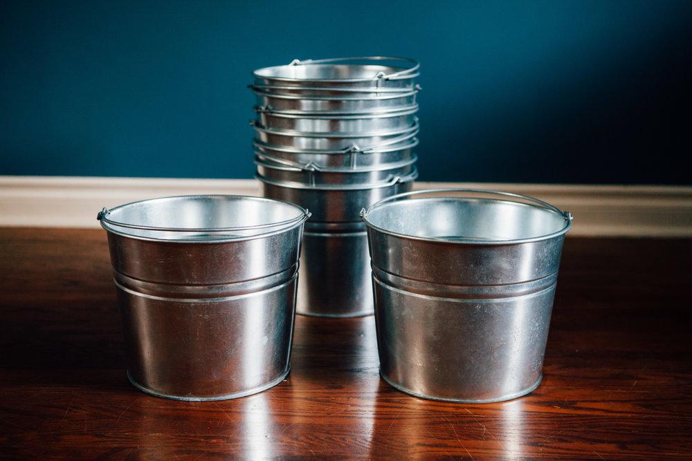 9 Silver Buckets