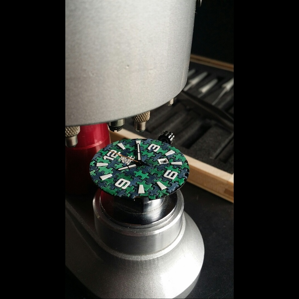 Recycled Skateboard Watch Dial