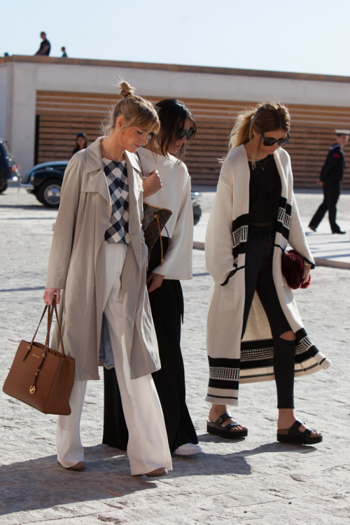 sneakers and pearls, streetstyle, wide pants, smart casual, trending now, ethnic cardigan, Isabel Marant, la cool et chic..jpg