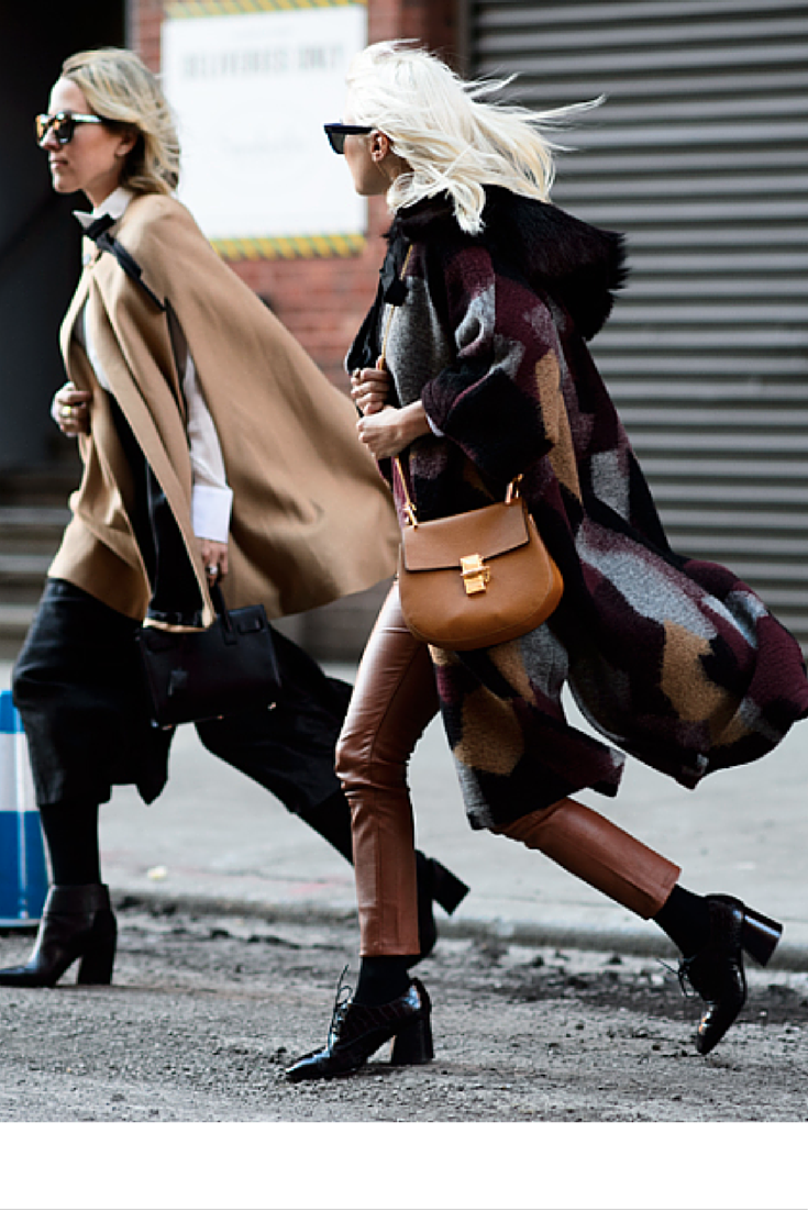 sneakers and pearls, tan cape, wool coat, black ankle boots,Chloe tan bag, trending now, la cool et chic.png