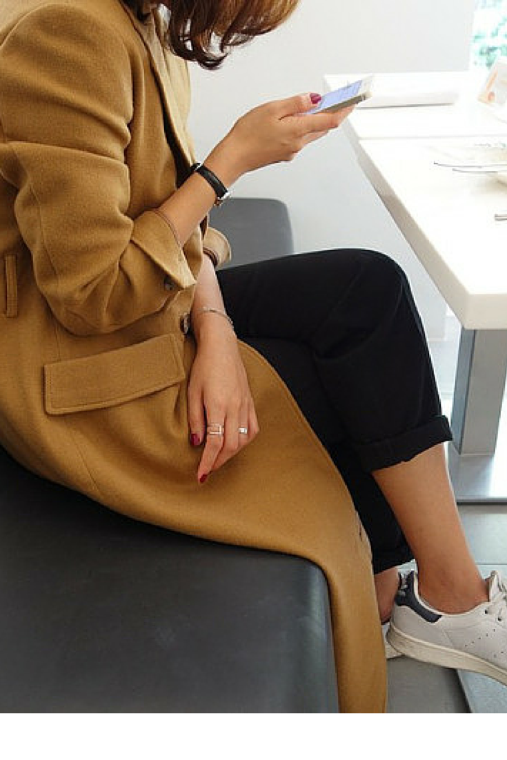 sneakers and pearls, camel coat, adidas stan smith, trending now, fashion, fall in whatever.png