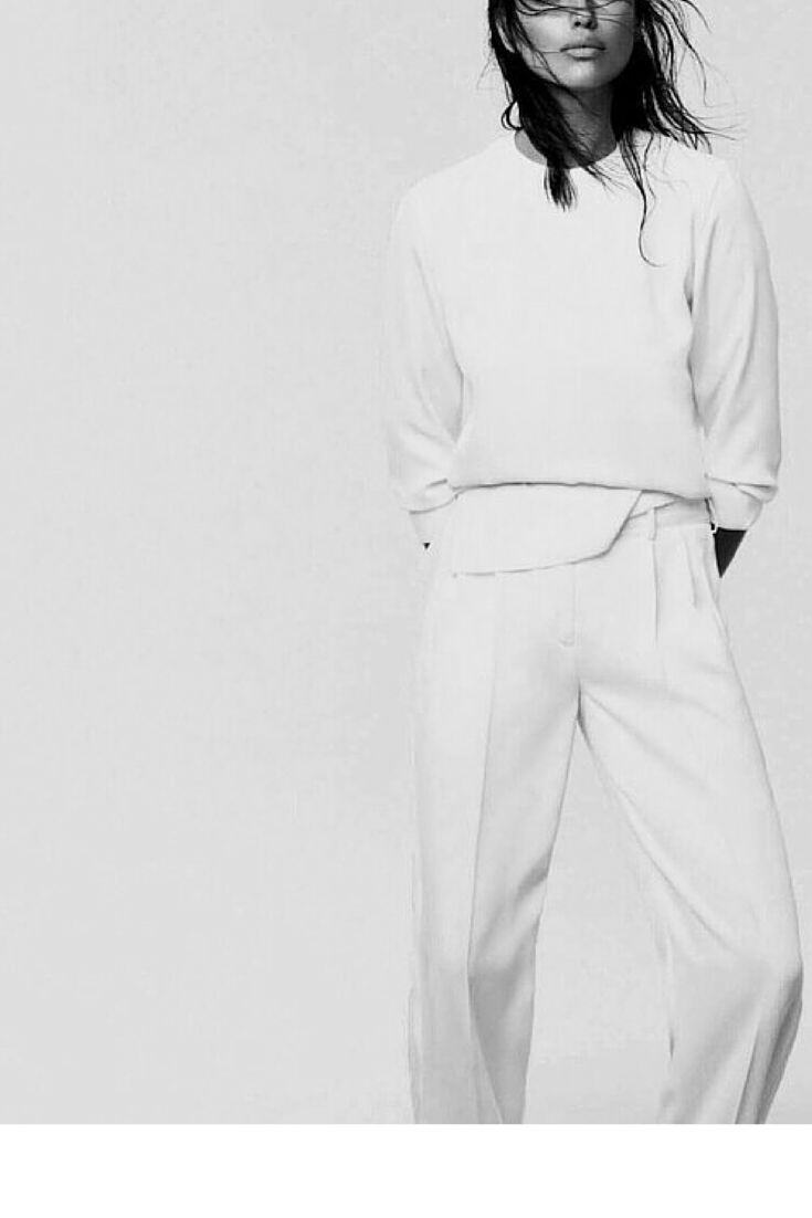 sneakers and pearls,total white look, layer white wide pants with a white seatshirt for a minimalistic look, trending now, lovely--delight.png