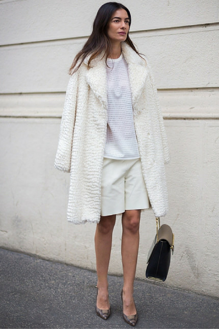 sneakers and pearls, street style, team up a pair of long shorts with a long coat fro an elegant look, trending now,lovely--delight.png