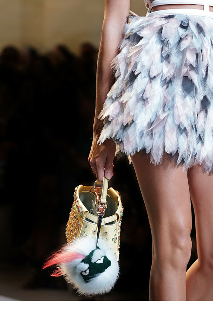 sneakers and pearls, runway, Fendi bag charm, fur monster, trending now, glamorgorgeous.png