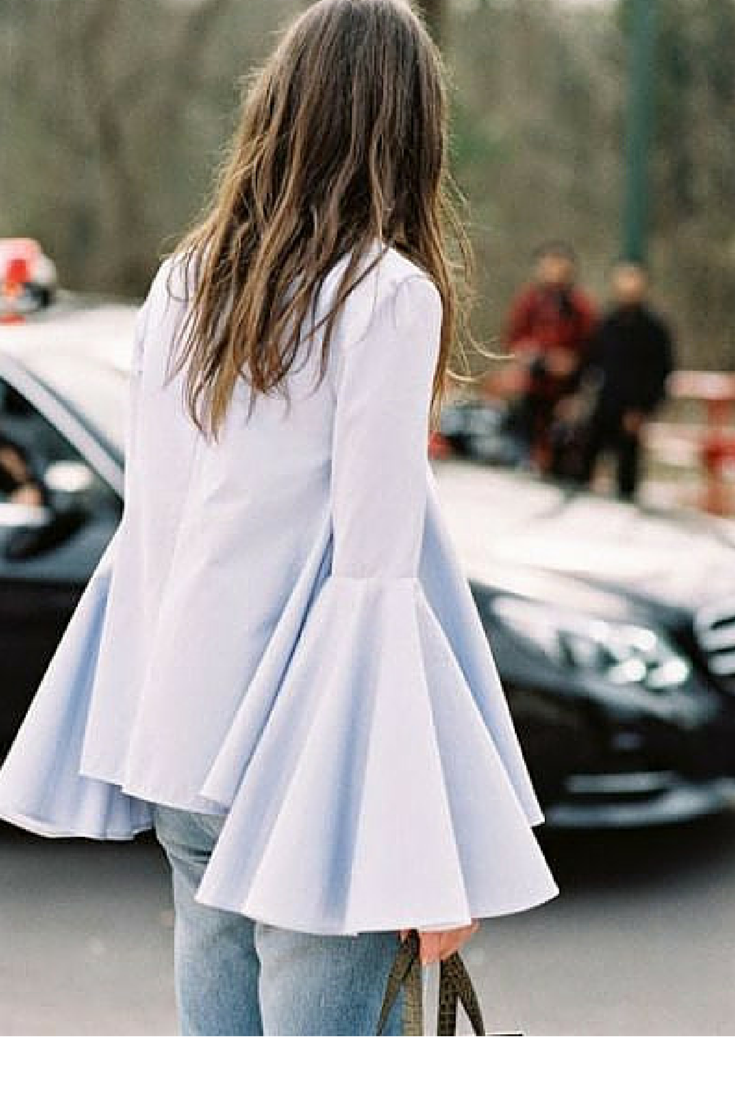 sneakers and pearls, street style, whenever you find a bell sleeve shirt get hold of it, rare to find, trending now.png