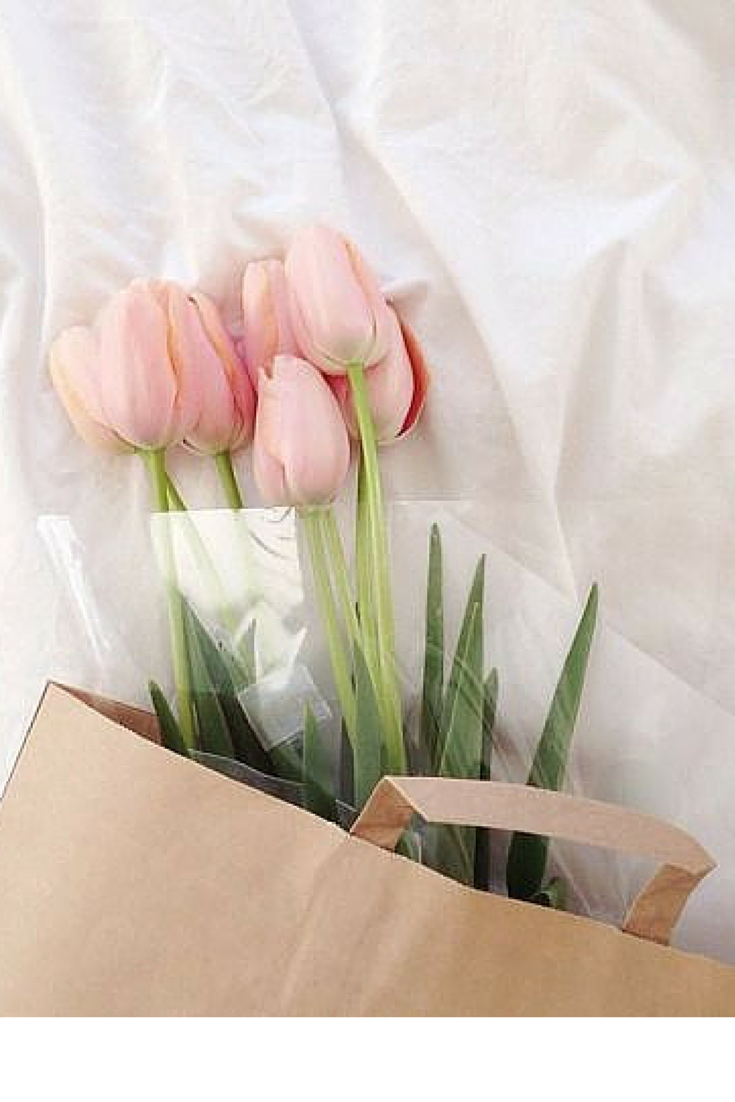 sneakers and pearls, make someone happy, give them flowers, flowers are always on trend.png