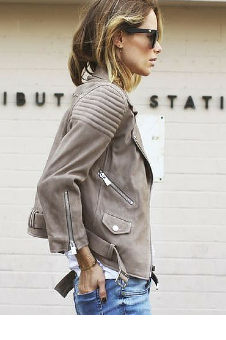 sneakers and pearls, street style, a leather jacket is always a good idea, trending now.png