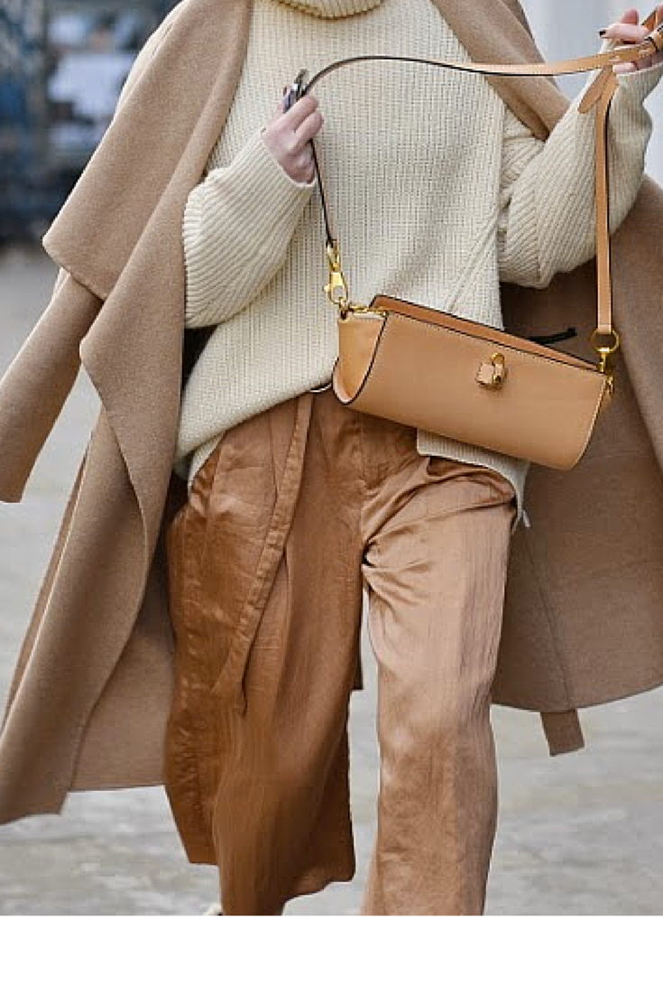 sneakers and pearls, streetstyle, camel cullotes, camel coat with belt,in fashion, trending now, la cool et chic.png