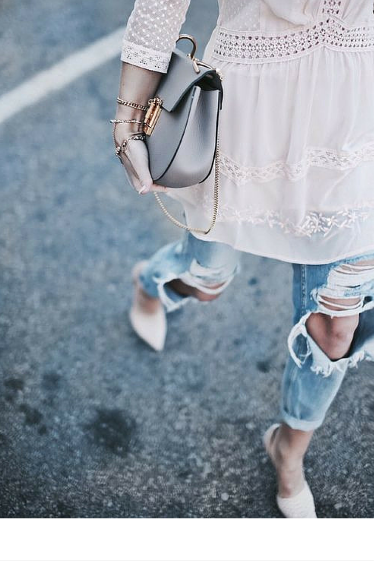 sneakers and pearls, streetstyle, ripped jeans, lace cotton dress, Chloe bag, trending now, vickynspiration.png