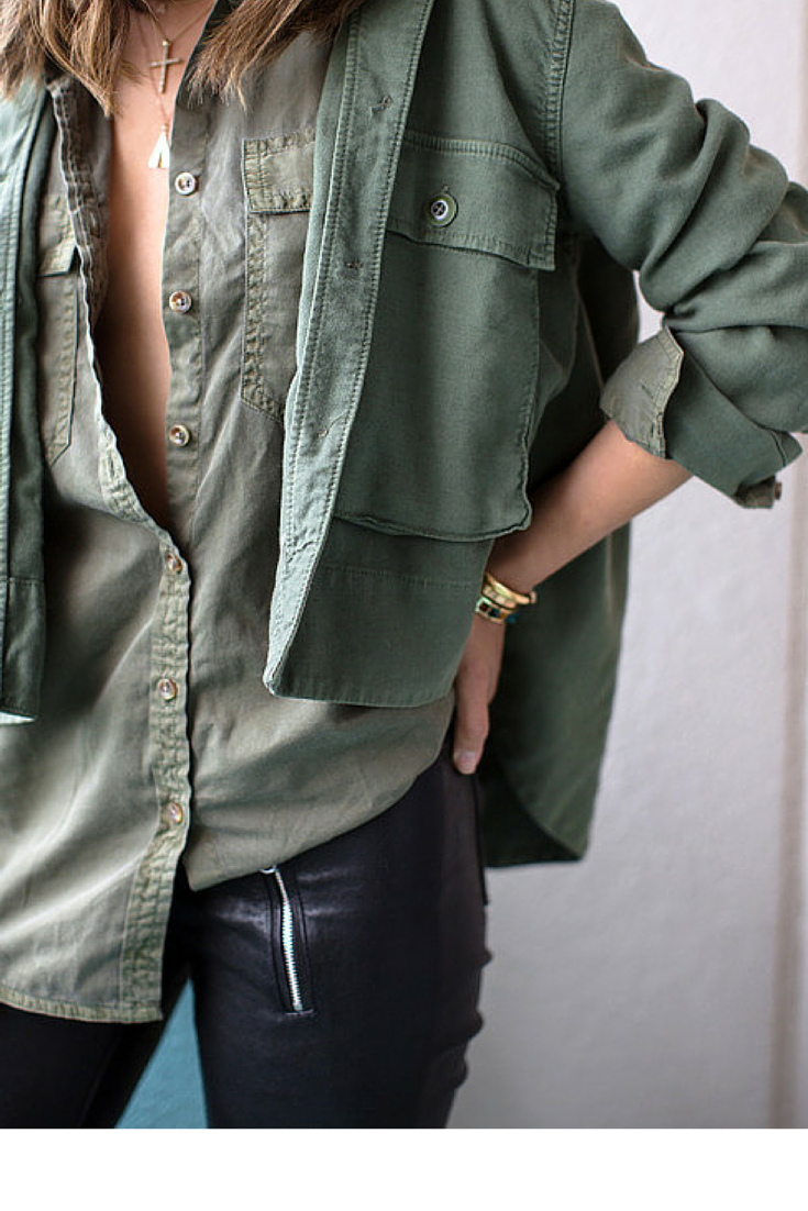 sneakers and pearls, layer two shirts over each other for a statement look,  trending now, Ellewatmough.png