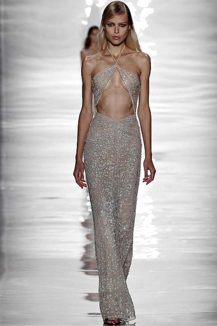 sneakers and pearls, sparkly halter neck dress, runway look, trending now, whatareyoulookingatbitch.png