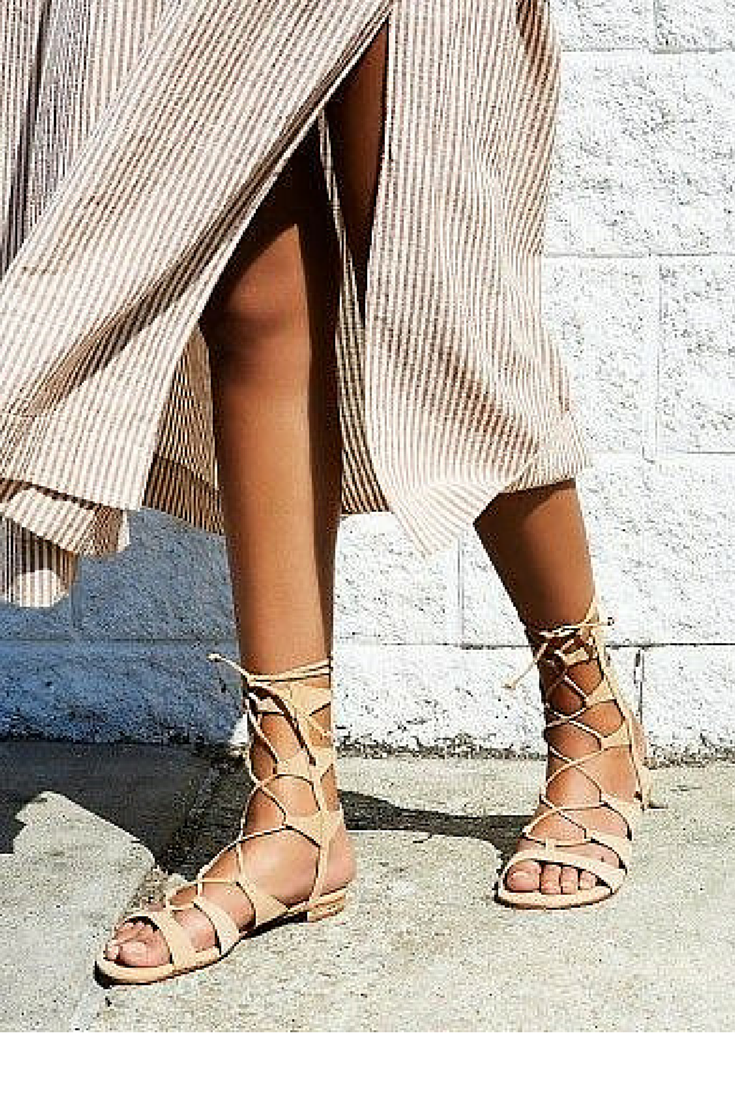 sneakers and pearls, street style, flat midi gladiators, trending now.png
