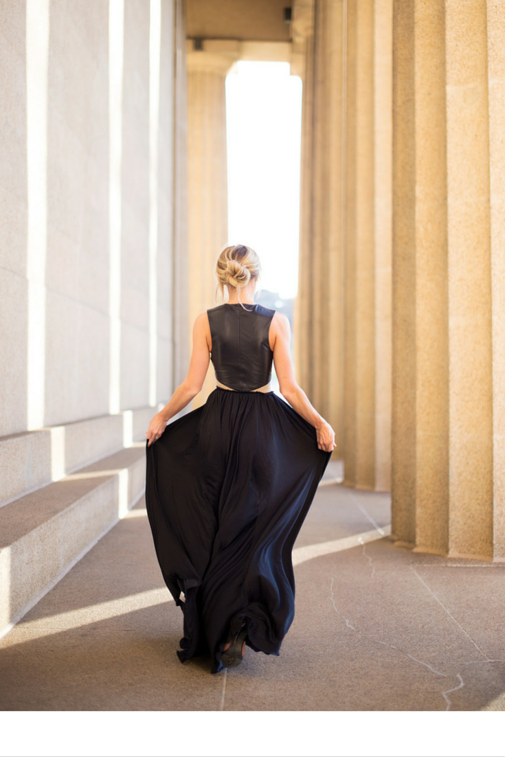 sneakers and pearls, opulent spaces, black long skirt, messy bun,trending now, miss zeit.png