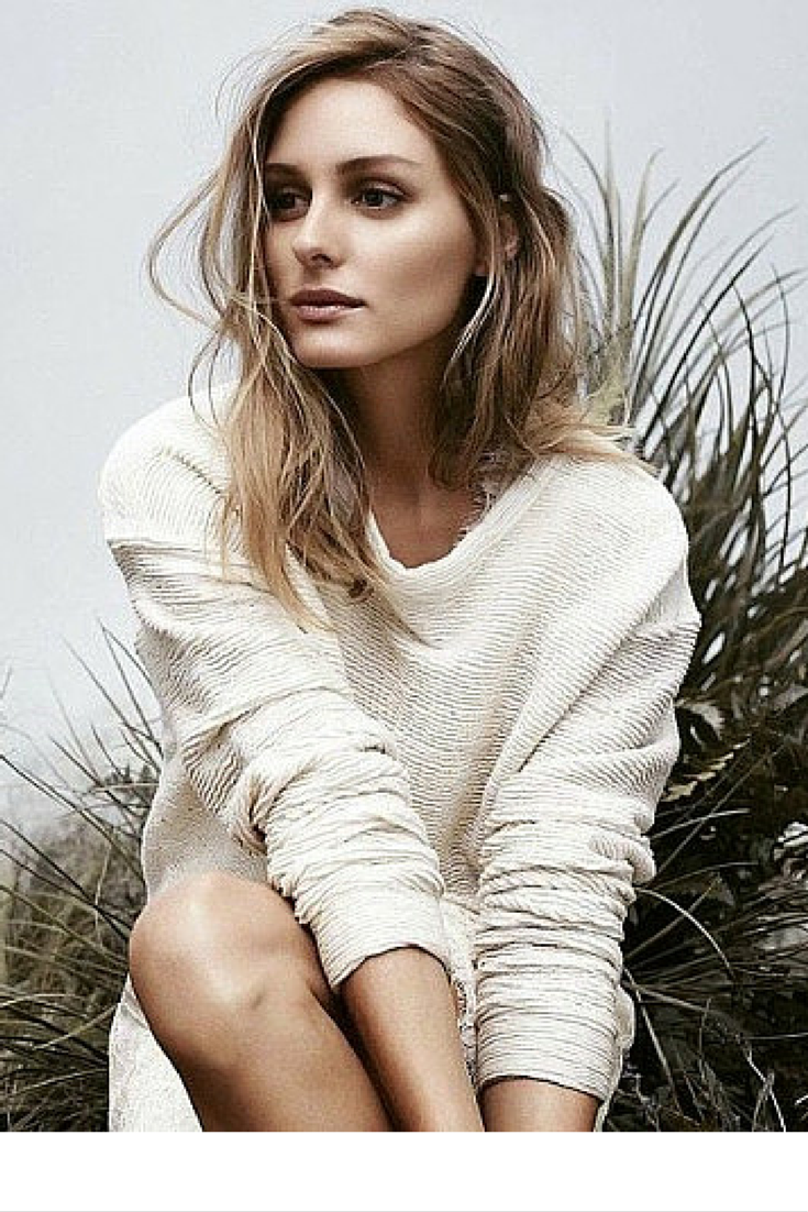 sneakers and pearls, modern muse, beige jumper, Olivia Palermo, trending now, vickynspiration.png