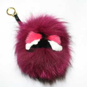 sneakers and pearls, hot pink fur monster keyring, trending now.png