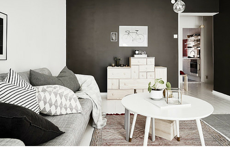 sneakers and pearls, modern and open spaces, grey sofa, grey pillows, trending now, vickynspiration.png