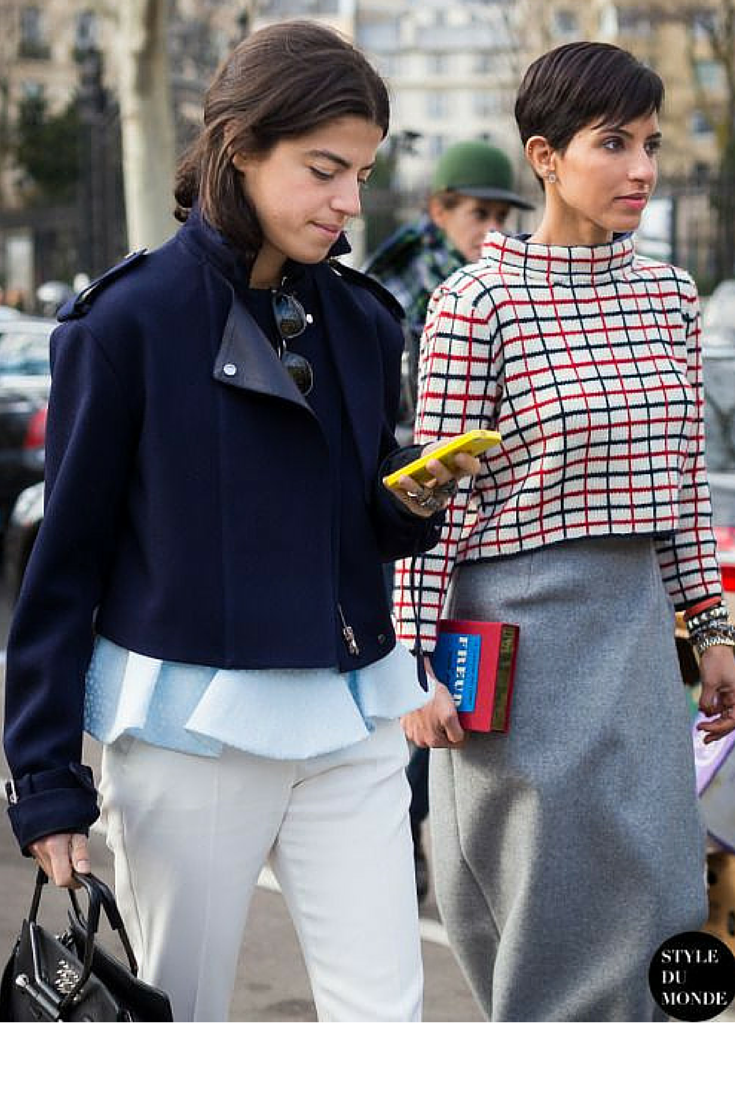 sneakers and pearls, street style, the master of layering, Leandra, trending now.png