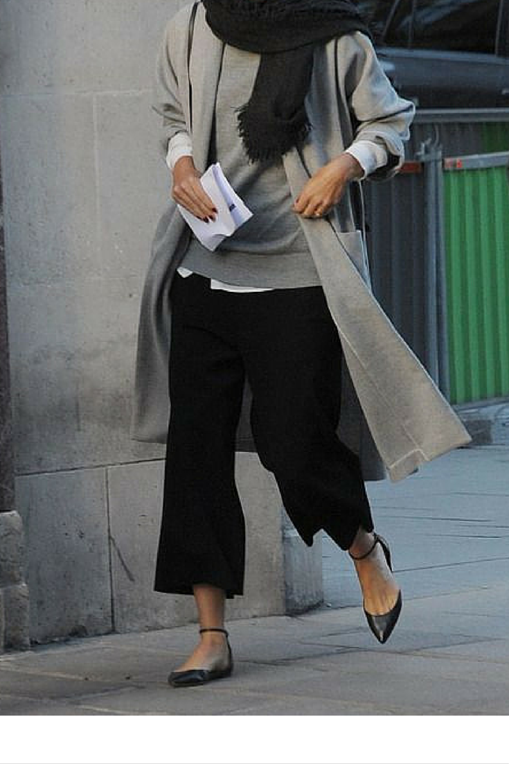 sneakers and pearls, grey is the new black, wear cullottes for a smart office look, trending now.png