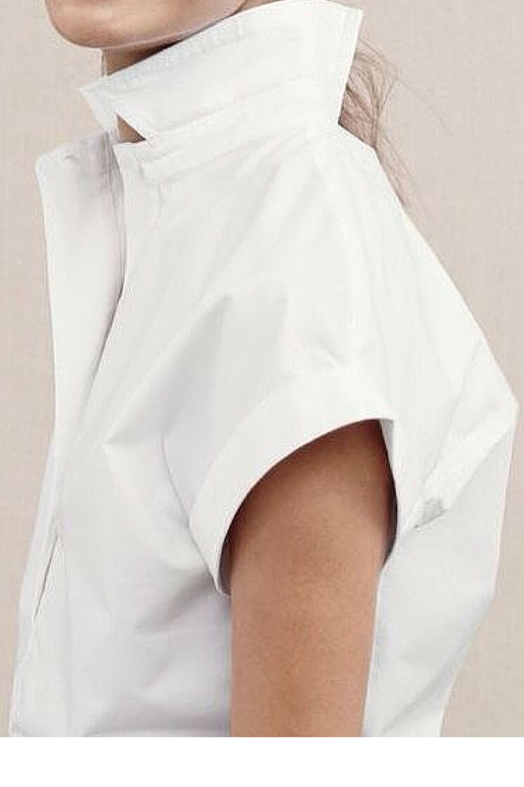 sneakers and pearls, white cotton shirt with structured sleeves, trending now.png