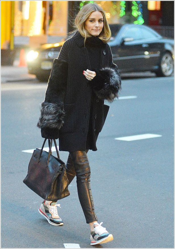 Sneakers and pearls, street style, dress code, comfort, Valentino sneakers, sneakers on the road, Olivia Palermo.jpg