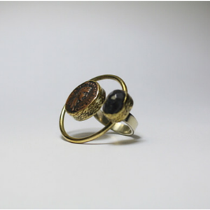 sneakers and pearls, coin ring with black onyx, trending now.png