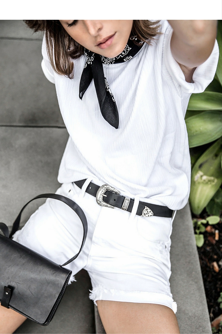 sneakers and pearls, take your white ensemble from day to night with black accessories, pinterest.jpg