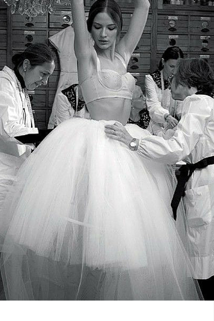 sneakers and pearls, dress fitting, backstage, haute couture, dolce and gabbana, trending now.jpg