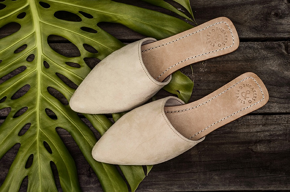 sneakers and pearls, flat suede mules, casual wear, trending now.jpeg
