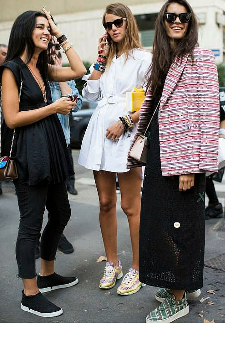 sneakers and pearls, street style, girls band, wear your sneakers with everything, trending now.jpg
