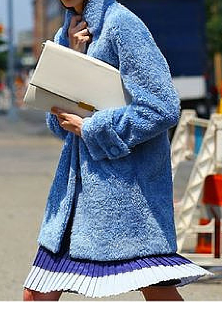 sneakers and pearls, street style, baby blue coat, trending now.jpg