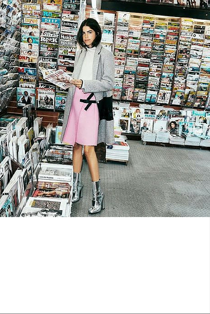 sneakers and pearls, street style, queen Leandra, pink with grey and silver hues, trending now..jpg