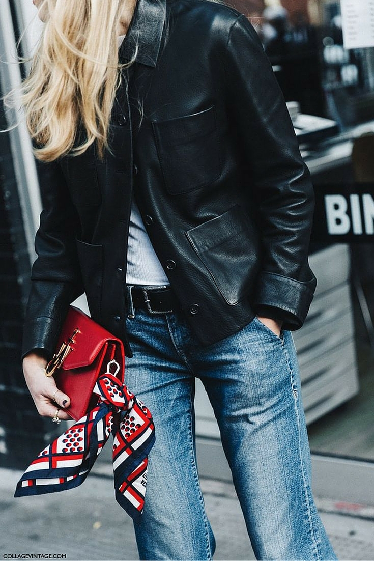 sneakers and pearls, street style, denim with leather, trending now.jpg