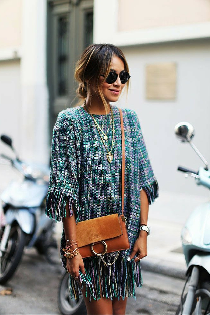 sneakers and pearls, street style, tweed dress, chloe handbag, sincerely jules, trending now.jpg