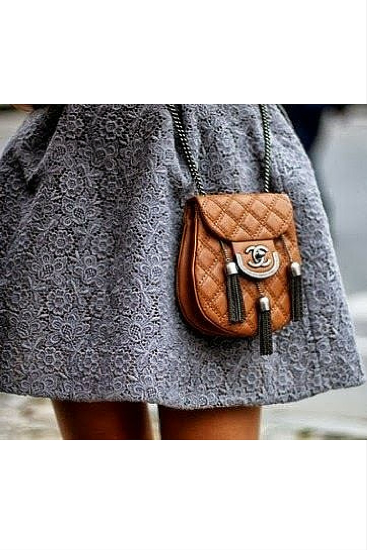 sneakers and pearls, street style, grey brogade skirt, Chanel handbag, trending now.jpg