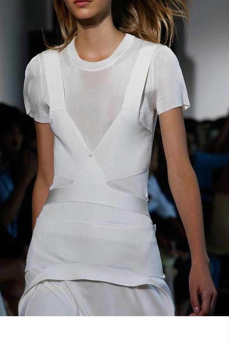 sneakers and pearls, runway look, white silk dress, sport meets luxe, tredning now.jpg