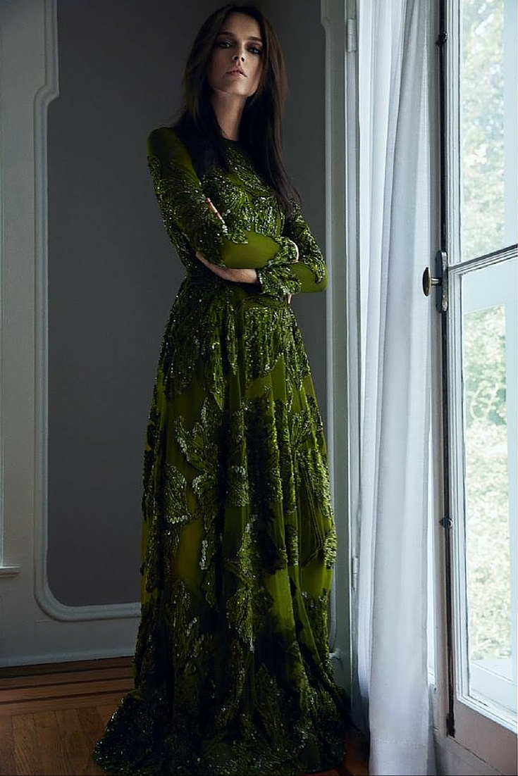 sneakers and pearls, ethereal dresses, green dress with sequins , luxurious lifestyle, trending now .jpg