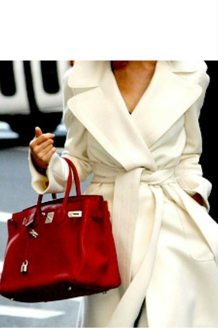sneakers and pearls, street style, white coat with a belt, hermes  bag, trending now.jpg