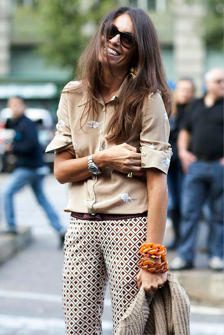 sneakers and pearls, street style, neutral tones fro a soft look, clash of prints, trending now.jpg