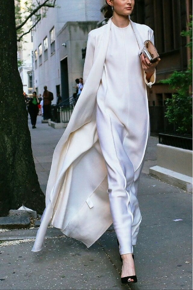 sneakers and pearls, street style, total white look, white dress under a white coat, cultoftomorrow, trending now.jpg