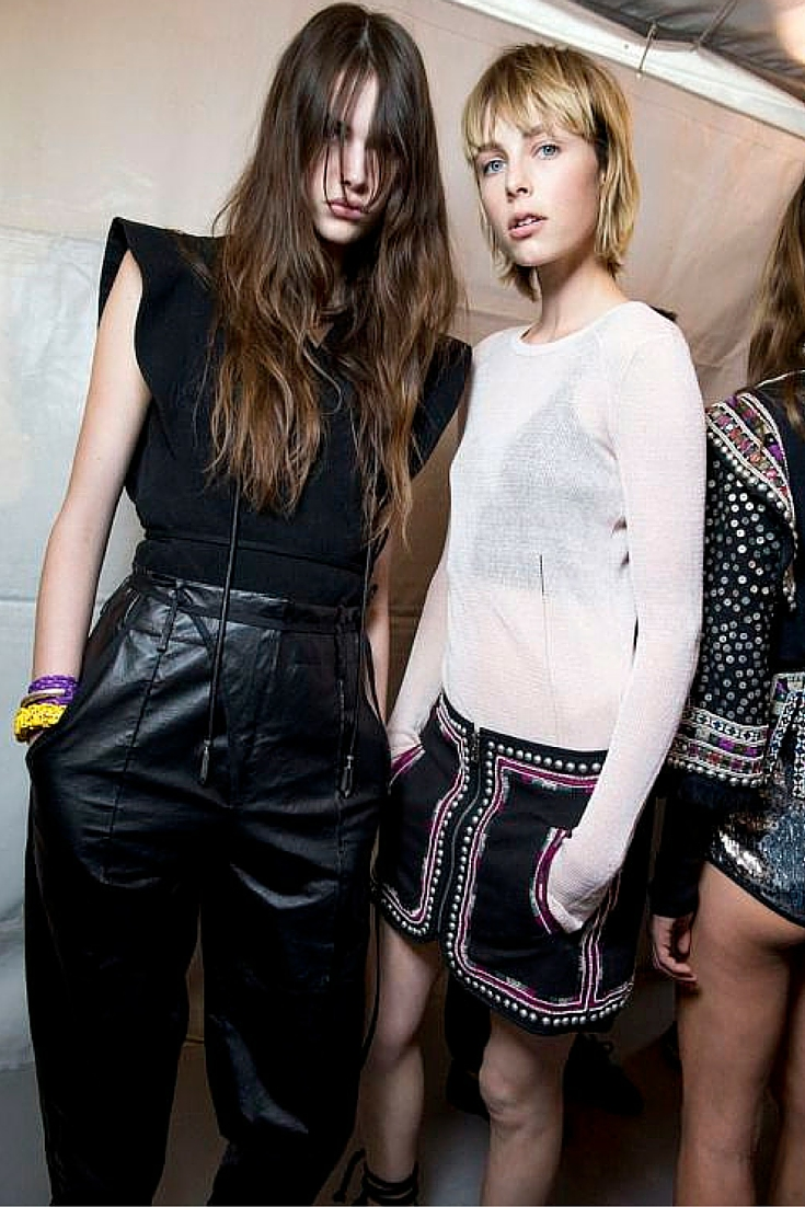 sneakers and pearls, Isabel marant, backstage, on duty models, always trending.jpg
