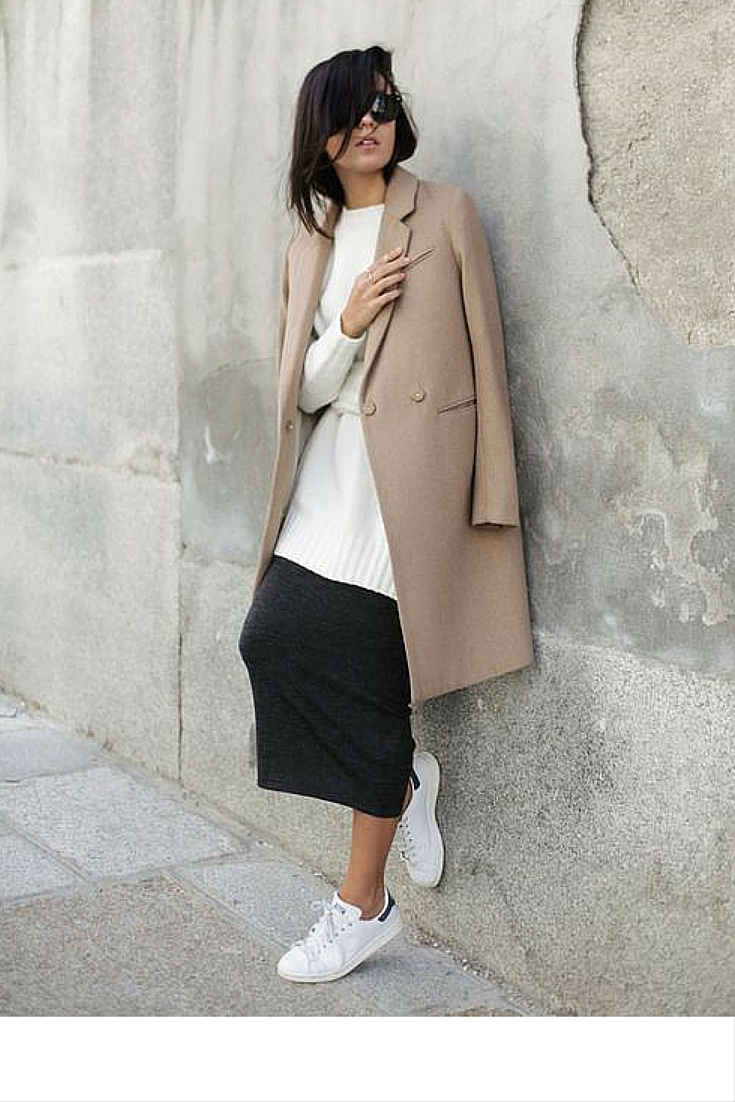 sneakers and pearls, street style, wear sneakers with everything, mix and match, trending now.j.jpg