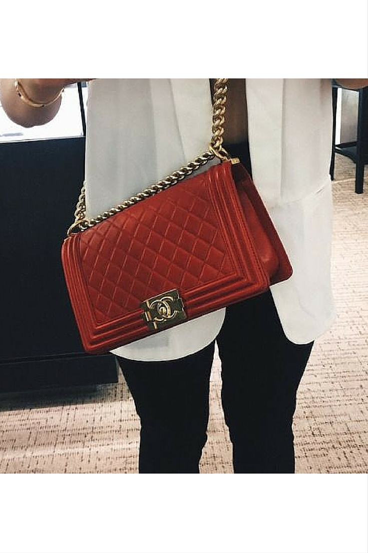 sneakers and pearls, street style, tred chanel bag, black and white look, trending now..jpg