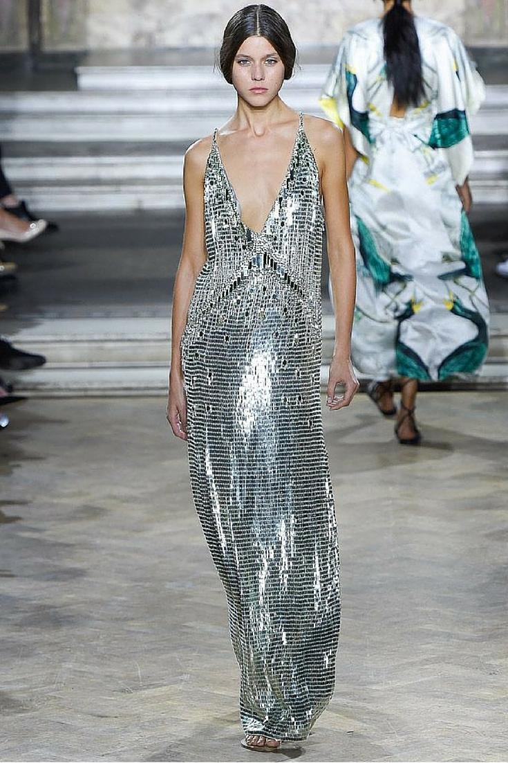 sneakers and pearls, runway look, bling bling, sequined dress, trending now.jpg
