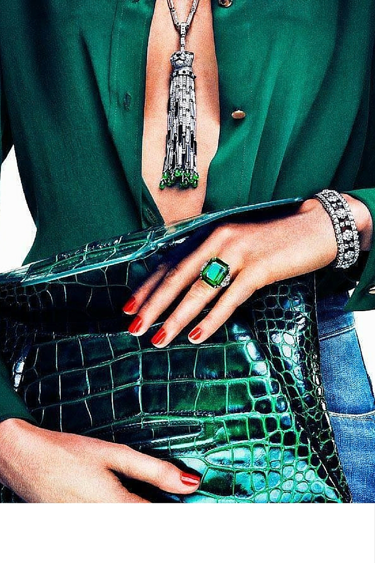 sneakers and pearls, emerald ring, mix satin with jeans, diamonds and stuff, trending now.jpg