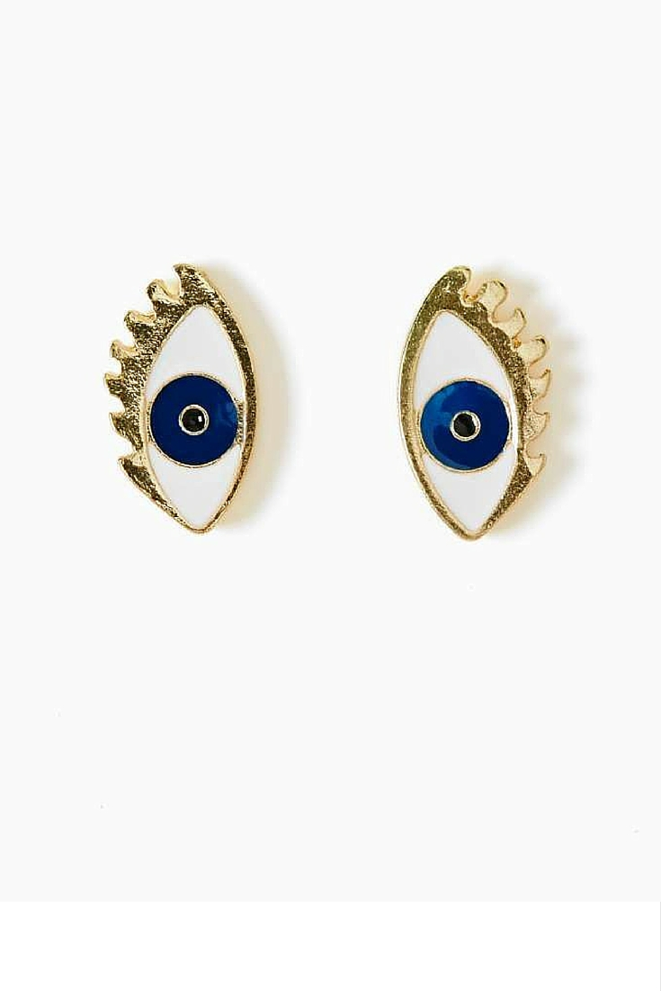 sneakers and pearls, evil eye earrings, trending now.jpg