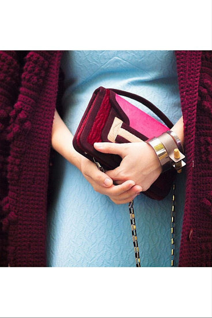 sneakers and pearls, street style, hermes handbag and cuff, burgundy in power, trending now.jpg
