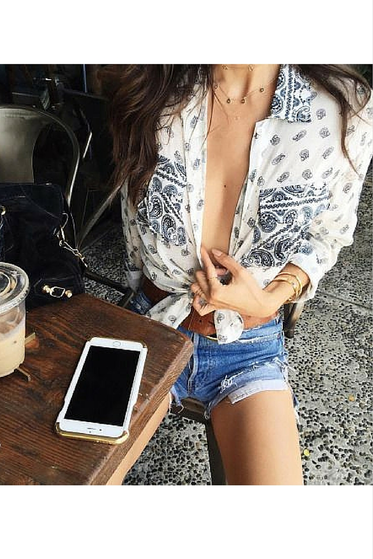 sneakers and pearls, summer, denim shorts, boho style, trending now..jpg