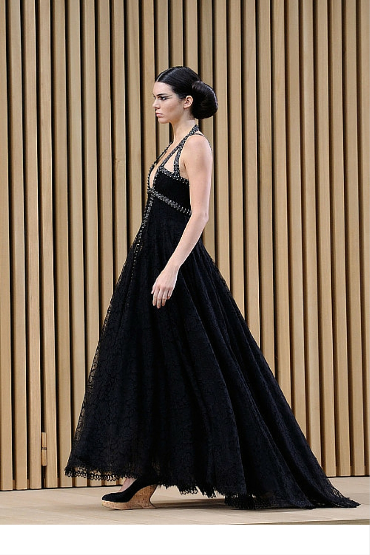 sneakers and pearls, haute couture 2016, coco chanel, karl lagerfeld, top models, black gown for the red carpet, Kendal Jenner, trending now.jpg