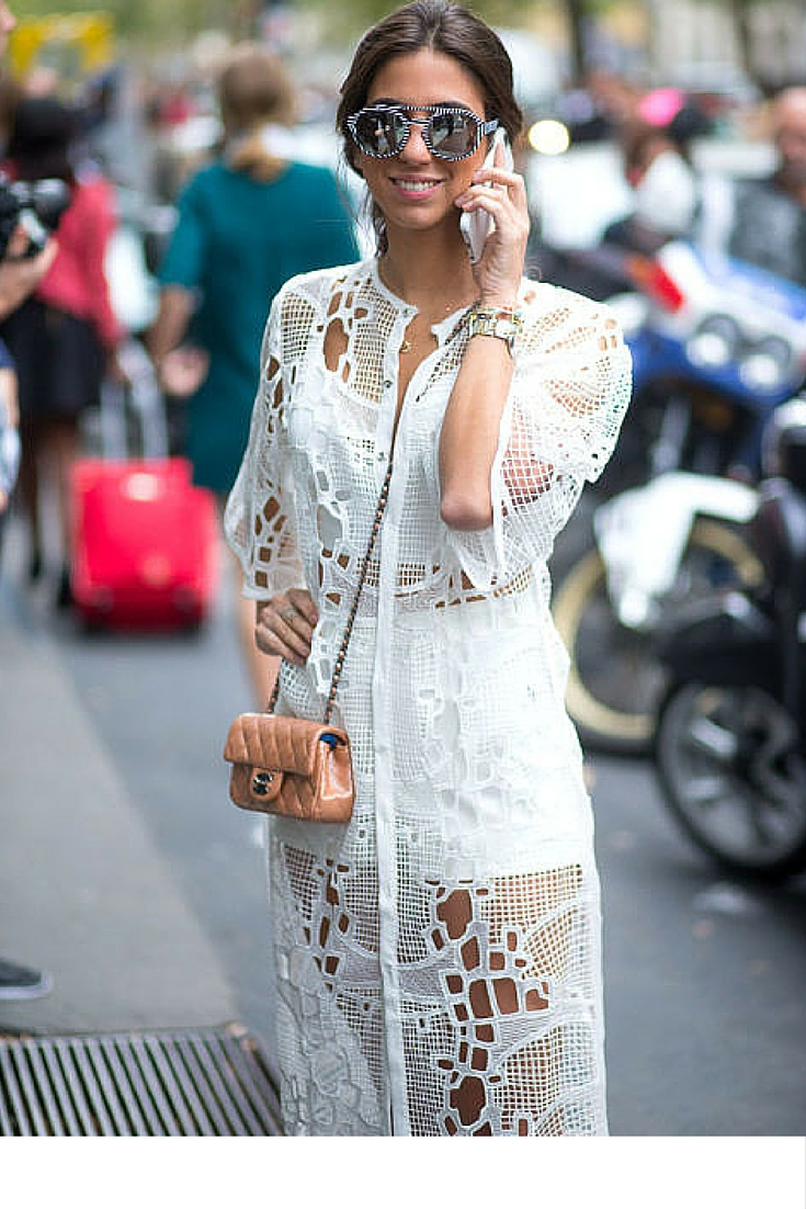 sneakers and pearls, street style, bloggers, chanel bag, lace cut dress, iphone, trending now.jpg