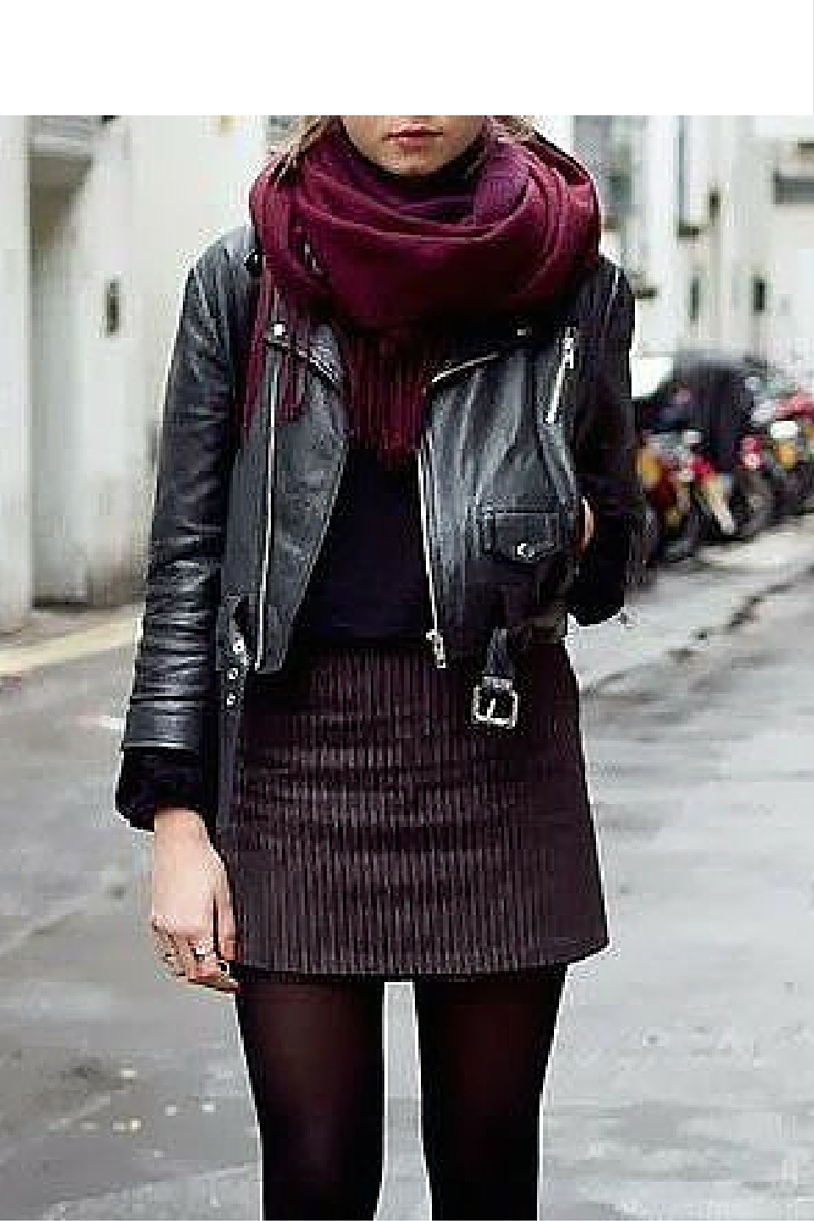 sneakers and pearls, street style, mix your everyday wear with a leather jacket, trending now.jpg